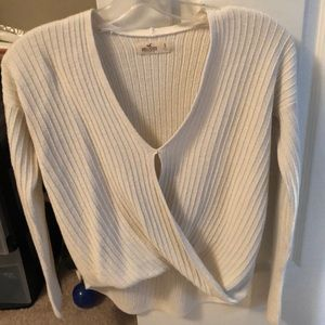 White knit hollister sweater